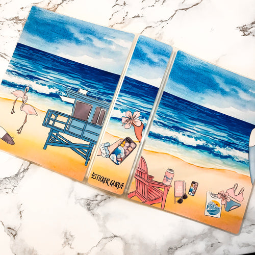 3 LEFT! Feelin Beachy // Mini Sticker Albums - NO COUPONS OR CREDIT