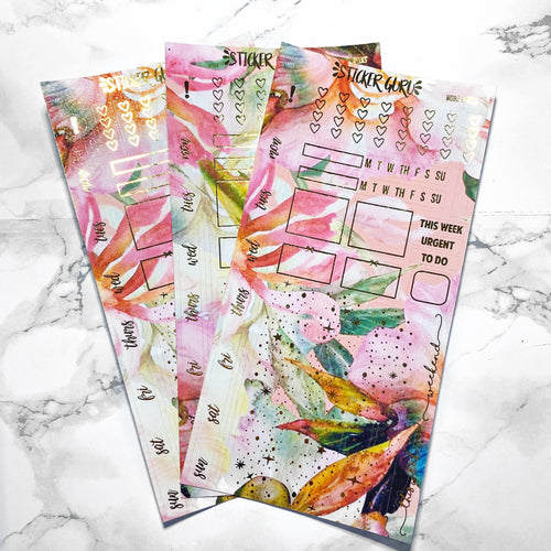 Maria // Gold Foil Hobonichi Weeks Sticker Kit