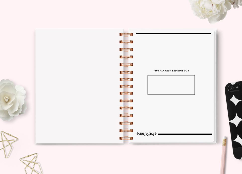 A5 Wide Big Plans Planner // Undated Standard Vertical