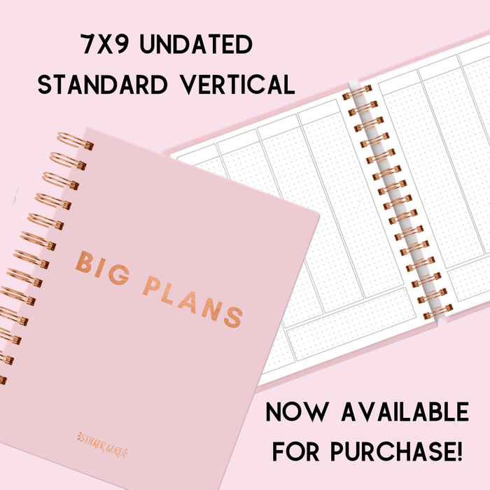 Big Plans Planner (7x9 Undated Standard Vertical Rose Gold Wire-O Coil)