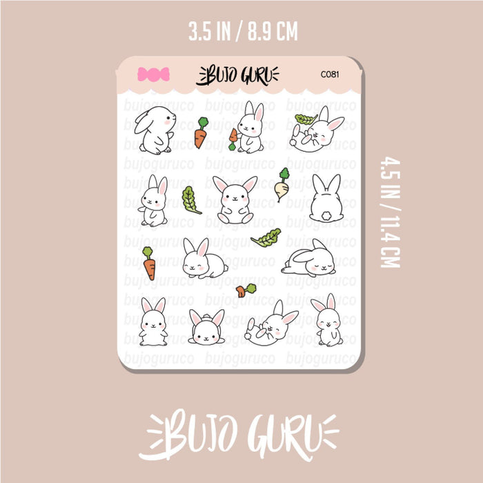 Bunny Rabbit Stickers