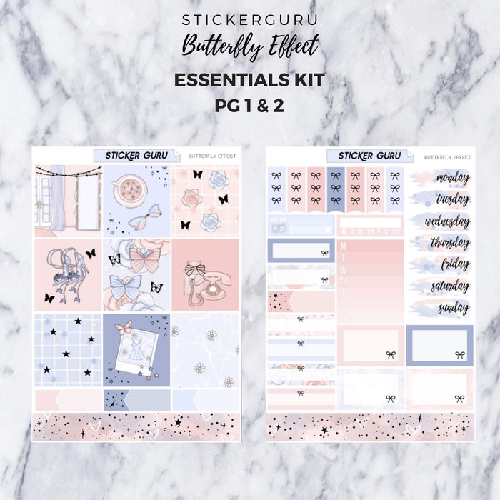 Butterfly Effect // Rose Gold Foil Essentials Weekly Sticker Kit