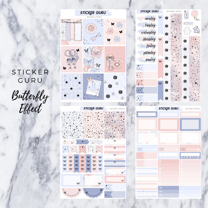 Butterfly Effect // Rose Gold Foil Full Weekly Sticker Kit With *A-La-Carte*