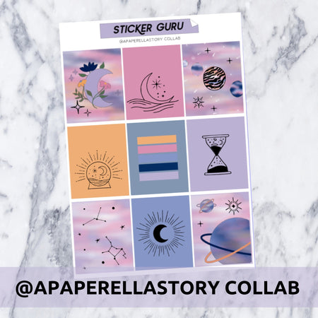 Collab With @apaperellastory // Gold Holographic Foil Full Weekly Sticker Kit With *A-La-Carte*
