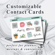 Custom Contact Card Sticker Sheets