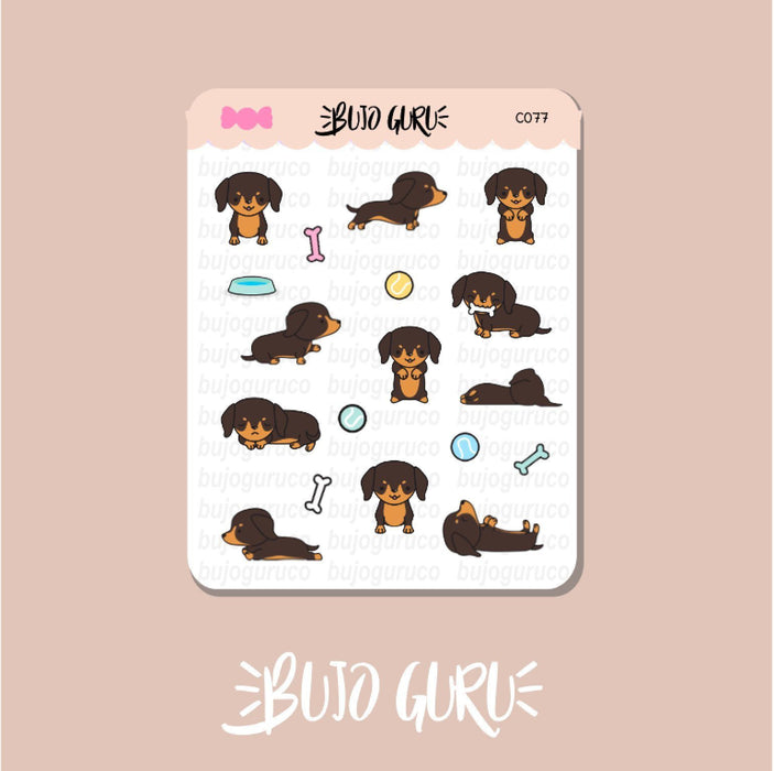 Dachshund Dog Stickers