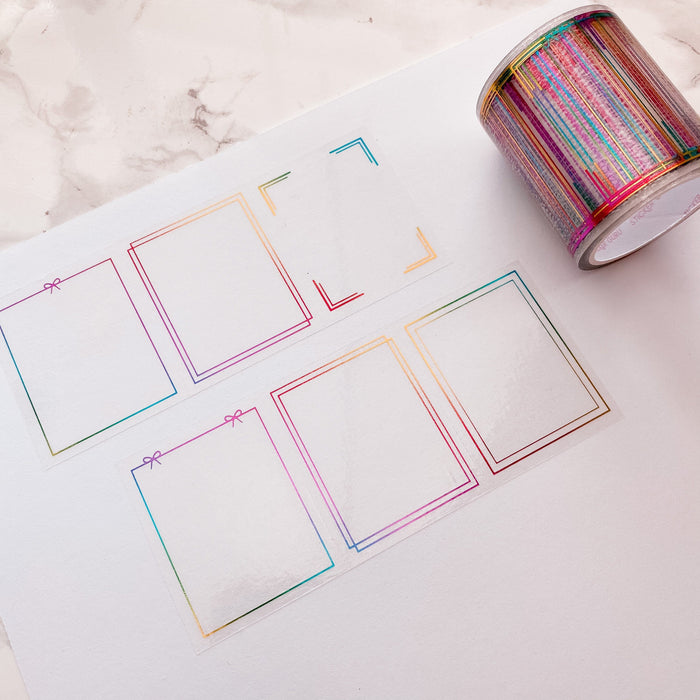 Decorative Frames - Foiled Clear Perforated Full Box Tapes