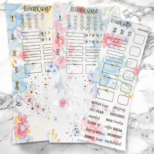 Cheryl // Gold Foil Hobonichi Weeks Sticker Kit