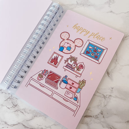Happy Place Reusable Sticker Book - Collab With @papershire - Gold Foil