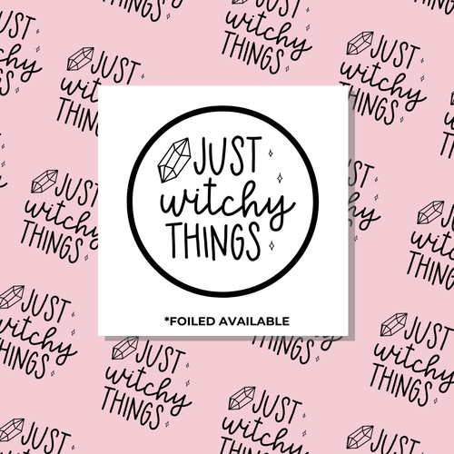 Just Witchy Things // Foiled Packaging Stickers