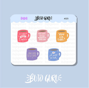 Motivational Mug Stickers