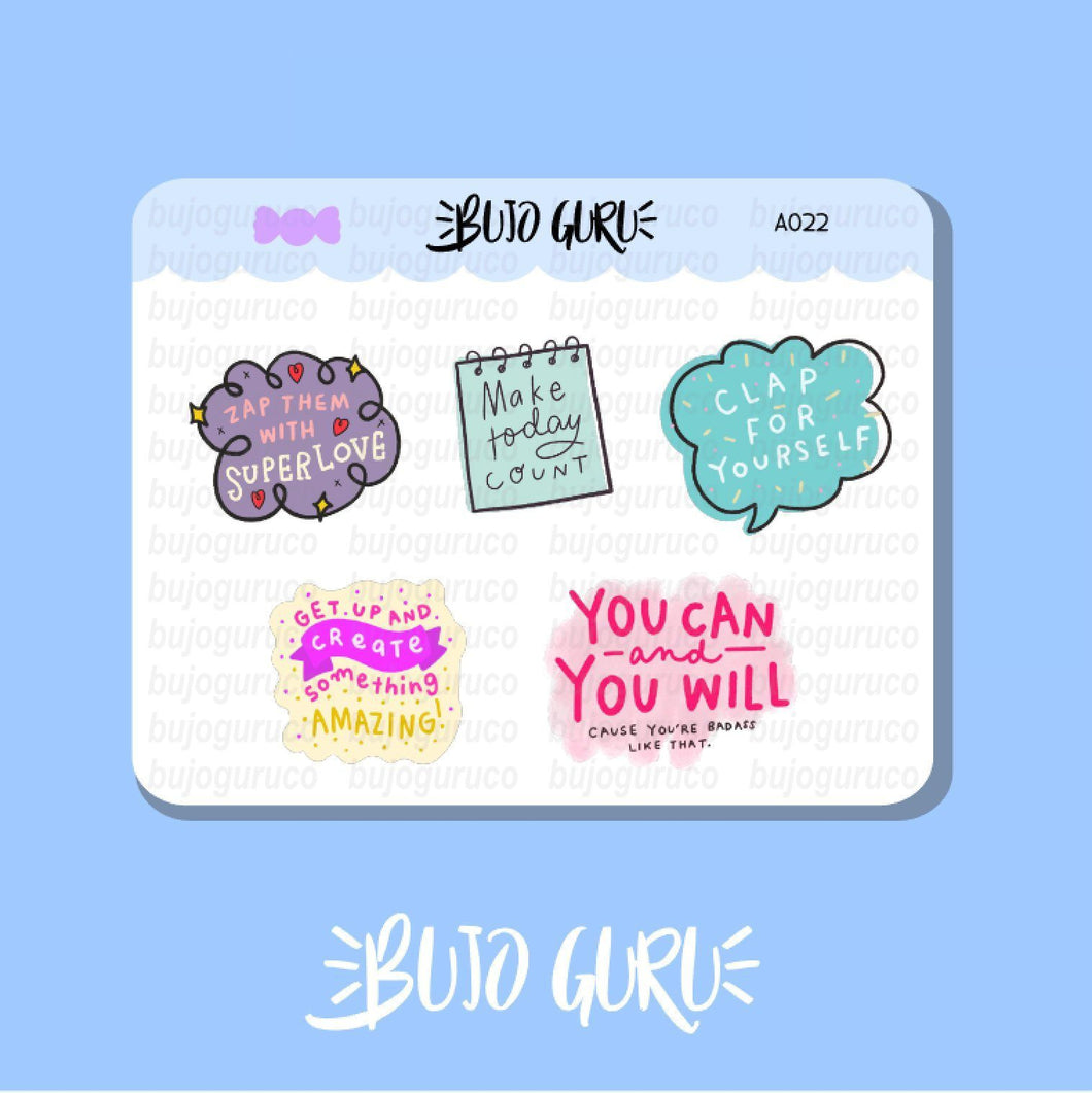 Motivational Stickers Set #2