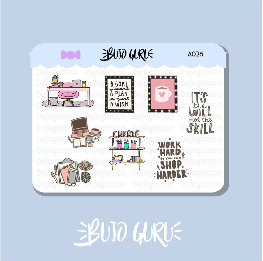 Office Girl Boss Stickers