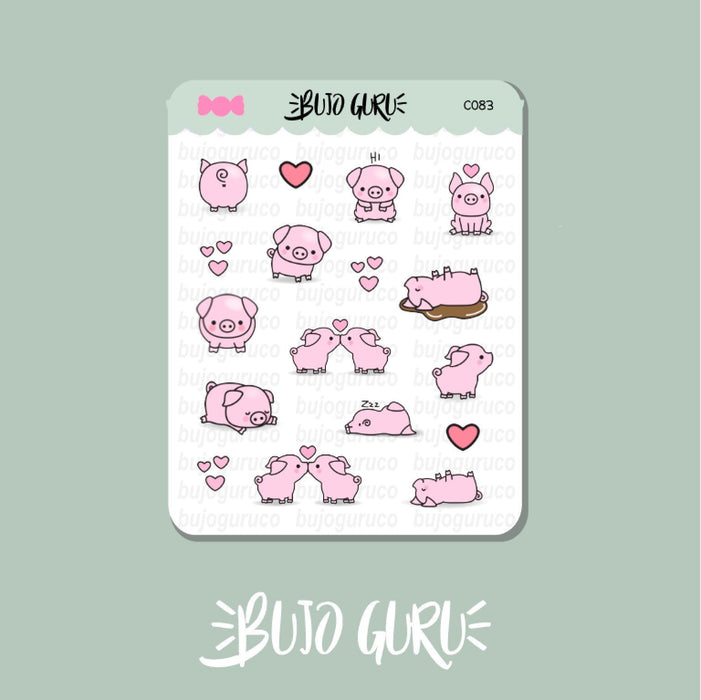 Pig Stickers