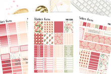 Pink Floral Spring Flowers // Printable Sticker Kit // PDF Files