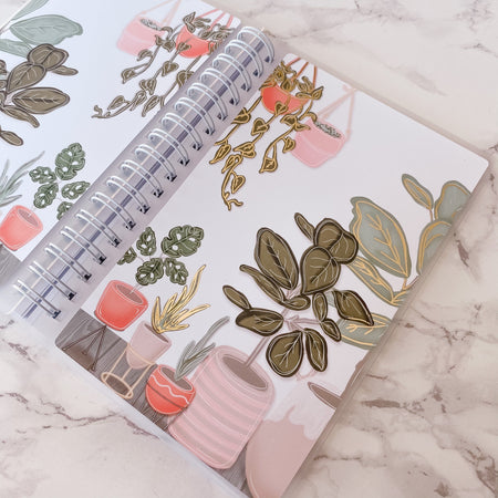 Plant Lover Reusable Sticker Book - Collab With @jlucey.designs - Gold Foil