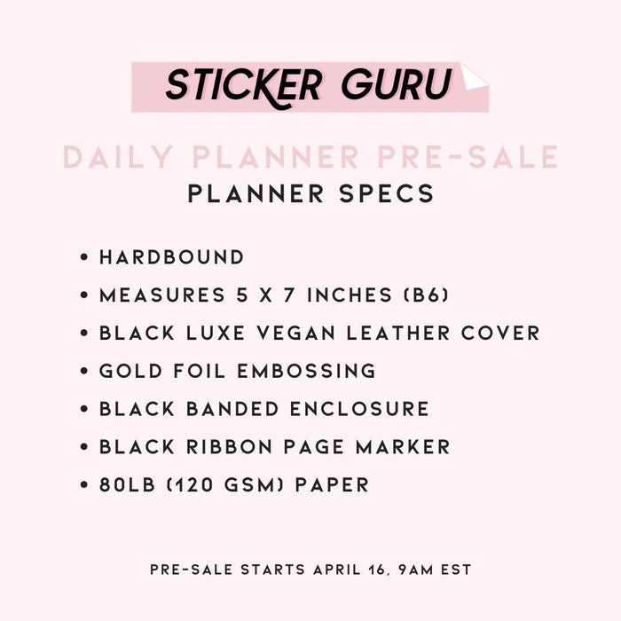 *PRE-SALE* Sticker Guru Daily Planner
