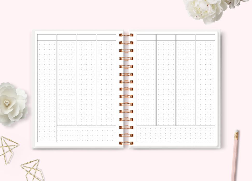 PRESALE - Big Plans Planner (7x9 Undated Standard Vertical Rose Gold Wire-O Coil)