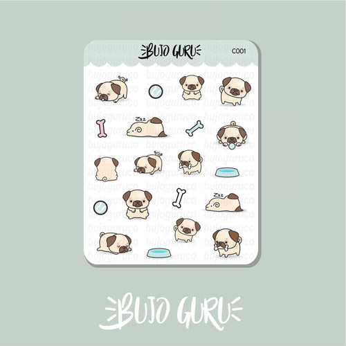 Pug Dog Stickers