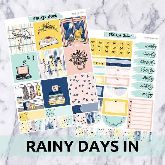 Rainy Days In // Rose Gold Foil Essentials Weekly Sticker Kit