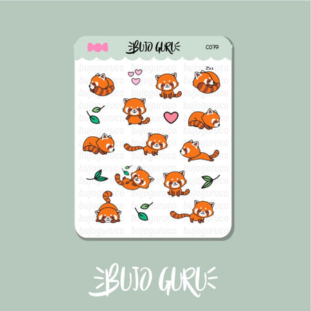 Red Panda Stickers