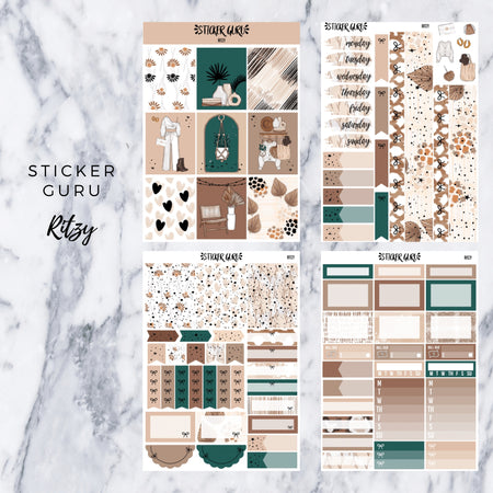 Ritzy // Gold Foil Full Weekly Sticker Kit With *A-La-Carte*