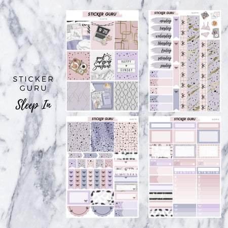 Sleep In // Gold Foil Full Weekly Sticker Kit With *A-La-Carte*