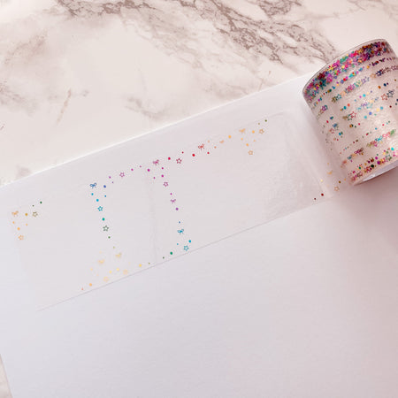 SOLD OUT! Stardust - Foiled Clear Perforated Full Box Tapes