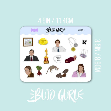 The Office Stickers (Dunder Mifflin)