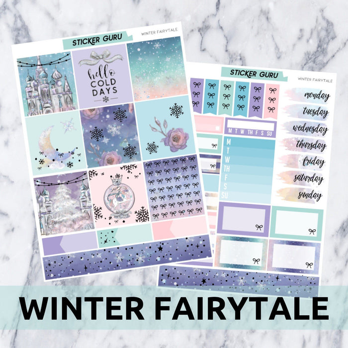Winter Fairytale // Holographic Foil Essentials Weekly Sticker Kit