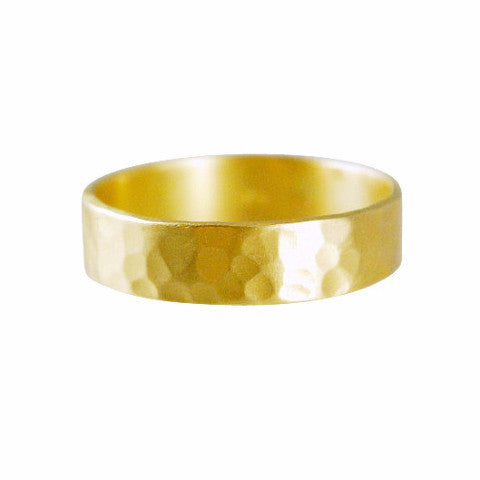 Gillian Conroy 18k Yellow Gold Men's Hammered Band