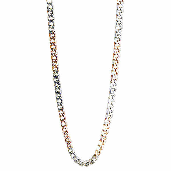Antique Platinum and Rose Gold Watch Chain with Swivel c. 1900's