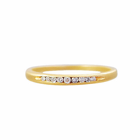 Gillian Conroy 18k Slim Tapered Diamond Band Ring