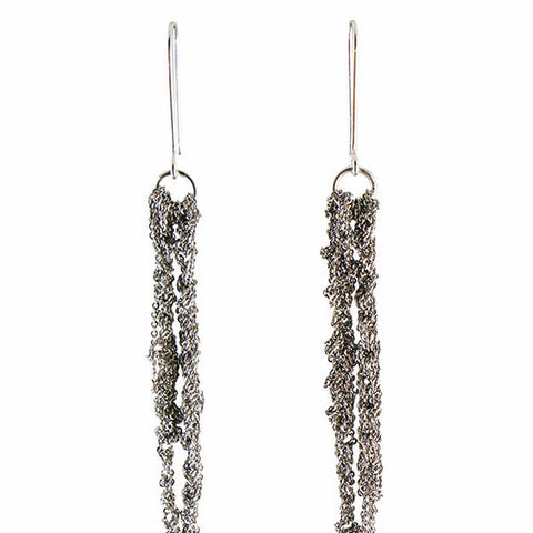 Arielle de Pinto Hook Drip Earrings in Ash
