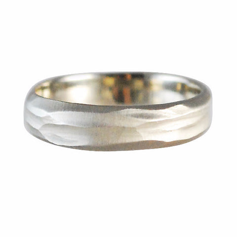 Rebecca Overmann Men's White Gold Stream Band Ring