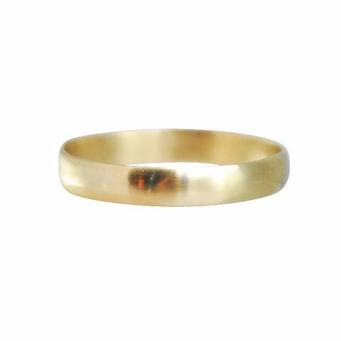 Gillian Conroy 14k Yellow Gold Men's Narrow Modern Classic Band - 3.7mm