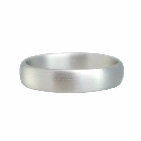 Gillian Conroy Men's 14k Rounded White Gold Wedding Band