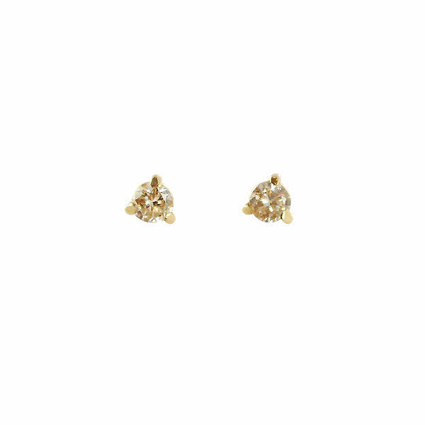 B.C.E. Jewelry 14k Three Prong Champagne Diamond Stud Earrings