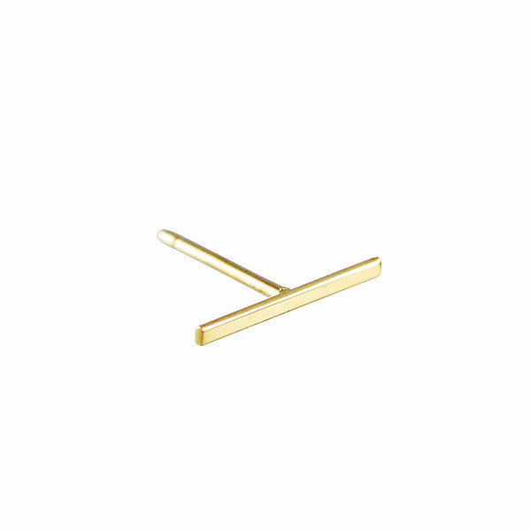 Kathleen Whitaker 14k Gold Long Staple Stud Earring