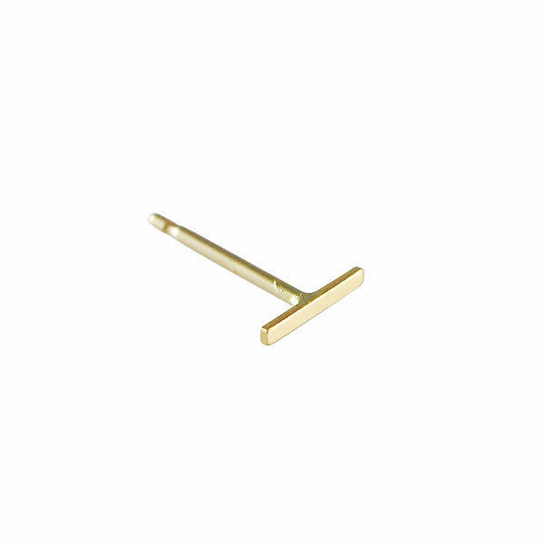Kathleen Whitaker 14k Gold Staple Stud Earring