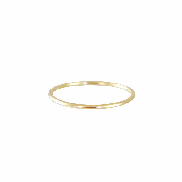 Kathleen Whitaker 14k Small Tube Band Ring