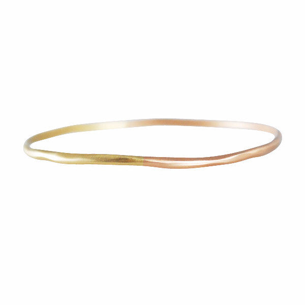 Rebecca Overmann Rose & Yellow Gold Water Bangle Bracelet