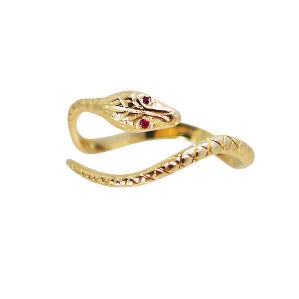 Louison Fine 14k Eternal Snake Ring