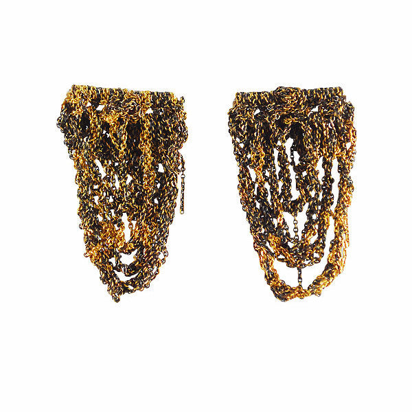 Arielle de Pinto Prestige Earrings in Burnt Gold