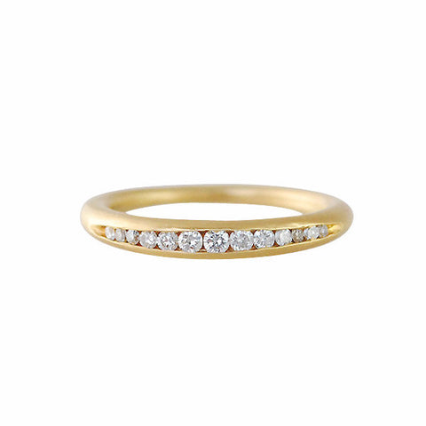 Gillian Conroy 18k and Channel Set White Diamond Tapered Band Ring
