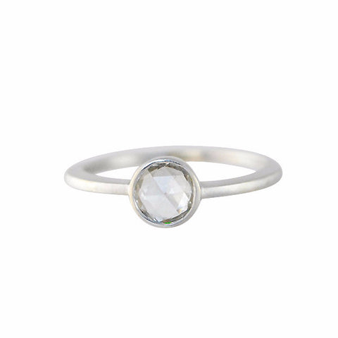 Gillian Conroy 18k White Gold & Rosecut White Diamond Ring