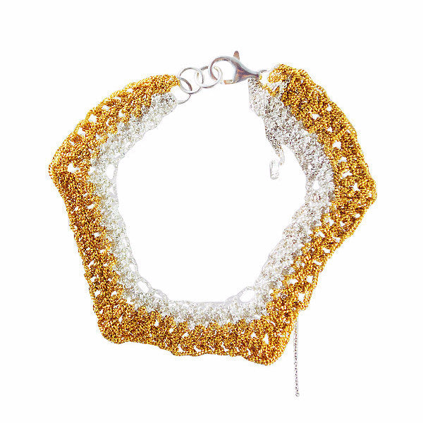 Arielle de Pinto Zig Zag Bracelet in Gold and Silver