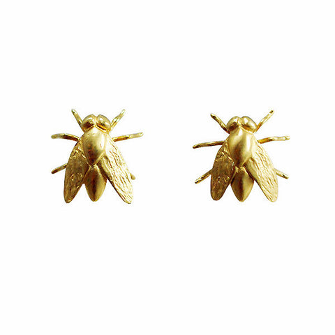 Gabriella Kiss 18k Fly Earrings