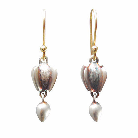 Gabriella Kiss Silver Buckwheat with Seeds Earrings