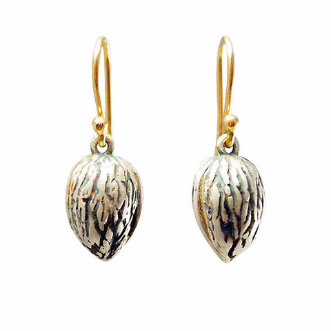 Gabriella Kiss Silver Walnut Earrings